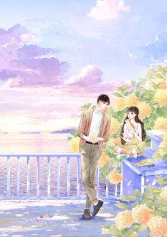 Cute Couple Drawings, Cute Couple Art, Cute Couples, Chinese Cartoon, Cute Anime Coupes, Beautiful Photos Of Nature, Cute Girl Wallpaper, Drawing Artist, Illustration Girl