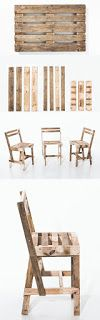 Basic Chair Made From Pallets   ----   #pallets   #palletproject