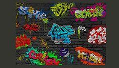 Papier peint intissé ! Top vente ! Papier peint ! Tableaux muraux XXL ! 300x210 cm - Graffiti 10110902-6: Amazon.fr: Cuisine & Maison