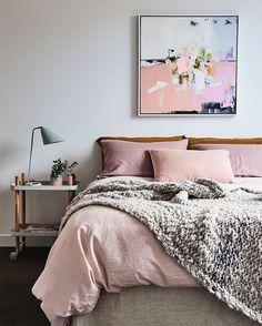 Pink bedroom by rebeccajudloves.com