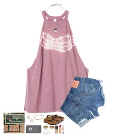 """""""I'm in North Carolina!!! 4 hours and 17 minutes left!!"""" by kat-attack ❤ liked on Polyvore featuring RVCA, Levi's, Birkenstock, Kendra Scott, Honora, Ray-Ban, Essie, NARS Cosmetics, Burt's Bees and L'Oréal Paris"""