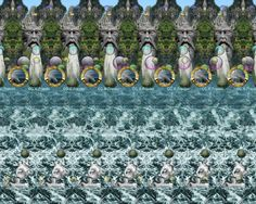 3D Stereograms - Water Fantasy Stereogram by Gary W. Priester