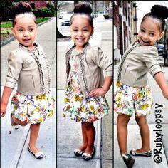 Kids fashion minus the jacket Cute Kids Fashion, Cute Outfits For Kids, Little Girl Fashion, Toddler Fashion, Baby Outfits, Gerber Baby, Divas, Kid Swag, Estilo Fashion