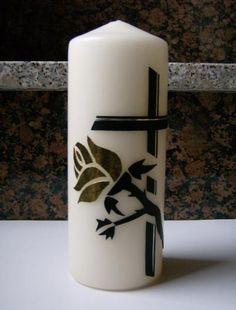 Selbstgestaltete Kerzen - TRAUERKERZEN Pillar Candles, Decorated Candles, All Saints Day, Wax, Embellishments, Creative Ideas, Taper Candles, Candles