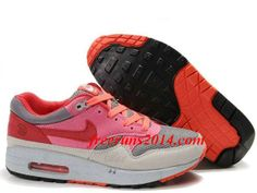 reputable site 46e09 dad3c Womens Nike Air Max 1 Graphite Light Grey Pink Infrared Shoes  Pink  Womens