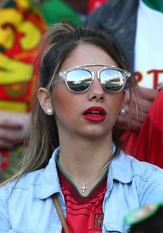 #EURO2016 A fan supports her team prior to the Euro 2016 round of 16 football match between Croatia and Portugal at Stade BollaertDelelis in Lens France on...