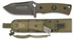 cuchillo coyote. hoja titanio coated