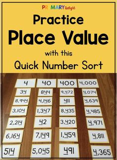 Teaching place value concepts to grade and grade students? Try these fun place value sorting activities to help students understand expanded form and develop strong number sense skills. Sorts are differentiated up to the hundred thousands place. Games For Kids Classroom, Math Classroom, Classroom Ideas, Teaching Place Values, Teaching Math, Teaching Tips, Fun Math, Math Games, Fluency Games