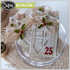 Sizzix Inspiration | December 25 Tags by Audrey Pettit