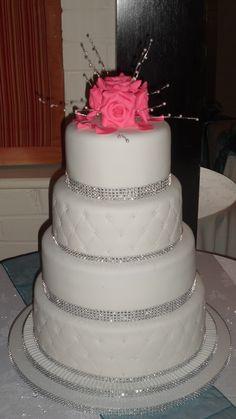 Diamante & Pink sugar roses :)
