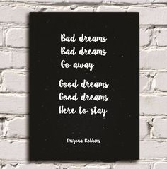 QUADRO - Bad dreams go away - www.sweetstore.com.br