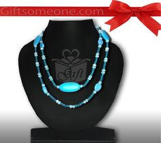 Rs.770.00 / $13.86 Shipping Charges 	Free Shipping To India(IND)	 Product Details 	 For a contemporary trendy look blue neck piece. One Neck piece jewelry/ jewellery. http://www.giftsomeone.com/blue-costume-neckless/product_info.php/products_id/3642