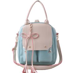 bowtie backpack (blue)