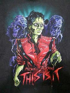 Michael Jackson Thiller Pose W/ Zombies Tou T-shirt Size LG This Is It - http://www.michael-jackson-memorabilia.com/?p=6731