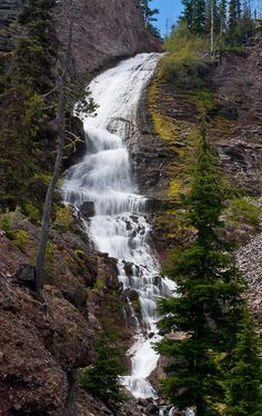 Kaluwas Falls on Whychus Creek (223'): just inside the Three .sisters Wilderness Area, located south of the town of Sisters