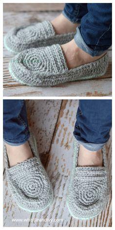 Crochet Shoes Pattern, Shoe Pattern, Crochet Slippers, Crochet Ideas, Crochet Crafts, Easy Crochet, Crochet Projects, Knit Crochet, Pumps