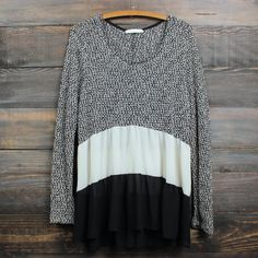 ruffle me up sweater tunic , black
