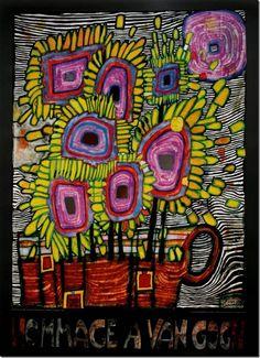 Hundertwasser, Hommage à Van Gogh