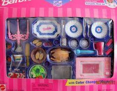 "Barbie COOKING MAGIC GLAMOROUS DINING Playset w COLOR CHANGE ""Magic""! (1997…"