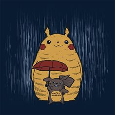 totoro, pokemon, t-shirts, azafran, shirtpunch, redbubble