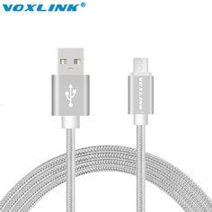Voxlink usb cavi per iphone 6 s 5 s micro usb data cable per iphone 6 plus samsung s7 s6 edge più s5 metallo intrecciato veloce carica