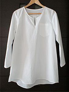 大川友美 いつもの服 きれいな服から タータンチュニック アレンジ C&S コットンパピエ ホワイト