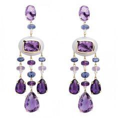 Amethyst earrings, purple glamour for your ears Purple Jewelry, Purple Earrings, Amethyst Jewelry, Amethyst Earrings, Star Earrings, Prom Jewelry, Owl Jewelry, Amethyst Gemstone, Diamond Earrings