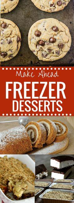 Make Ahead Freezer Desserts http://happymoneysaver.com/make-ahead-freezer-desserts/?utm_campaign=coschedule&utm_source=pinterest&utm_medium=Karrie%20%7C%20HappyMoneySaver&utm_content=Make%20Ahead%20Freezer%20Desserts