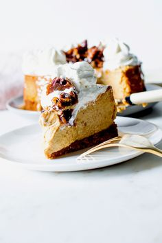 pumpkin cheesecake with salted caramel | flourishing foodie 1