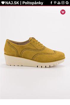 Horčicové poltopánky na platforme Corina Men Dress, Dress Shoes, Cole Haan, Oxford Shoes, Platform, Sneakers, Fashion, Tennis, Moda