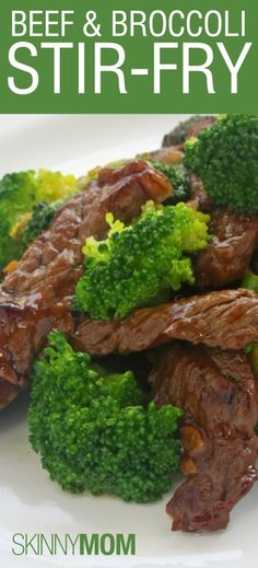 Skinny Beef and Broccoli Stir Fry! Great healthy version of this family favorite meal! Low calorie, low fat, and high protein!