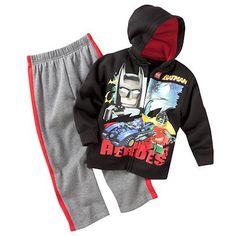 size 6 LEGO Batman Fleece Hoodie and Pants Set - Boys 4-7