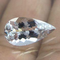 13.6x7.3 mm Goshenite Clear & transparent Beryl 2.3 Ct Pear Cut Stone…