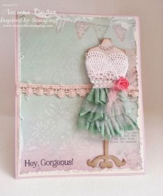 Created using:Sage seam binding, Spring Blossoms, Trendy Circle Sentiments and Delicate Doilies.