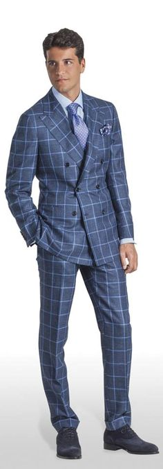 I love a Window pane styled suit! More suits, #menstyle, style and fashion for men @ http://www.zeusfactor.com