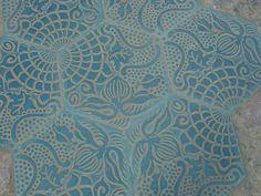 Pattern on Barcelona pavement by Gaudi