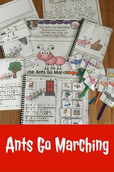 The Ants Go Marching One by One: Song differentiated Speech Language Pathology, Speech And Language, Ants Go Marching Song, First Grade, Second Grade, Conversation Cards, Simple Sentences, Fun Songs, English Language Learners