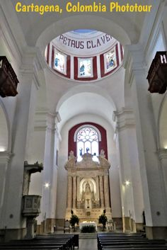 Church of San Pedro Claver in Old Town Cartagena Colombia Colonial Mansion, Trinidad Carnival, South America Travel, North America, Colombia Travel, Panama Canal, Colonial Architecture, Cruise Port, Modern City