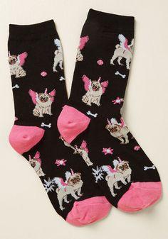 The Mythical Pugasus Socks