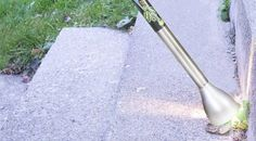 This magic wand kills weeds with high energy light
