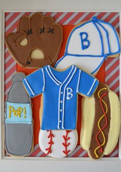 Baseball themed sugar cookies for father s day cookies by bake sale