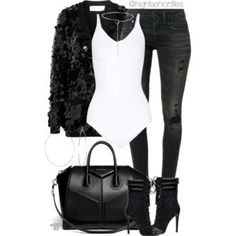 A fashion look from December 2016 featuring Sonia Rykiel cardigans, jeans and Givenchy handbags. Browse and shop related looks. Lila Outfits, Classy Outfits, Chic Outfits, Trendy Outfits, Fashion Outfits, Fashion Trends, Passion For Fashion, Love Fashion, Womens Fashion