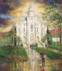 St. George Utah Temple ~ By Sandra Rast  i love this picture!