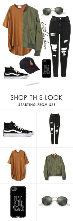 """Untitled #486"" by faithfashionash on Polyvore featuring Vans, Topshop, Gap, Casetify and Ray-Ban"