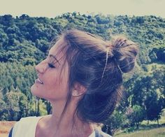 Cute messy topknot