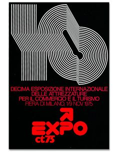 Mimmo Castellano is an award winning graphic designer and photographer who got his start in the port city of Bari, in the late 60s he moved to Milan and did some graphics for the expo, this is from 1975.