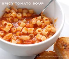 Giadia's Spicy Tomato Soup :: olive oil, carrots, onion, garlic, marinara sauce, chicken broth, cannellini beans, red pepper flakes, and pastina pasta.