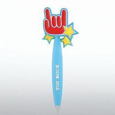 PVC Bobble Top Pen - You Rock at Baudville.com