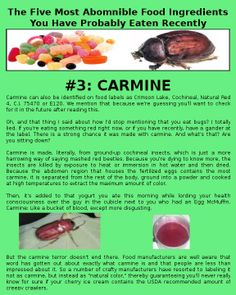 Horrifying food ingredients #3.