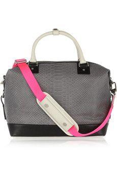 DIANE VON FURSTENBERG Sporty Drew python-effect leather tote £583.33 Fab Bag,  Best. Fab BagBest HandbagsFashion BagsFashion ... 32fbc33fbf